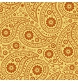 Seamless Paisley background Elegant Hand Drawn vector image vector image