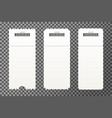 set of empty ticket templates isolated vector image vector image
