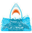 shark jaws blue background vector image vector image