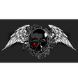 Skull decorated with wings vector image vector image