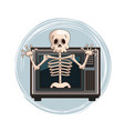 skull videogame character cartoon on tv vector image