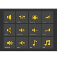 Speaker icons Volume control vector image vector image
