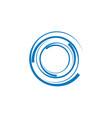 spiral icon template vector image