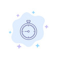 stopwatch clock fast quick time timer watch blue vector image vector image