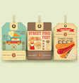 street food festival price tags vector image vector image
