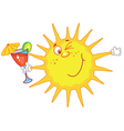 sun with a glass vector image vector image