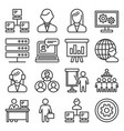 system administrator and operator icons set line vector image vector image