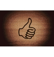 Thumb up icon symbol Flat modern web design with vector image vector image