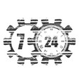 timing symbol 7 and 24 vector image vector image