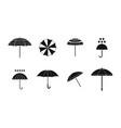 umbrella icon set simple style vector image vector image