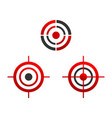 various target icons vector image vector image