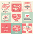 vintage styled valentines day card vector image vector image
