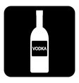 Vodka bottle symbol button vector image