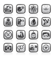 Zika Virus pandemic icons vector image