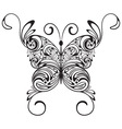 monochrome tattoo butterfly vector image