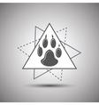 Animal footprint logo isolated on white background vector image