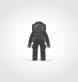 Astronaut Black Icon vector image