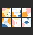 abstract shapes background vector image vector image