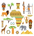 Africa symbols and travel set