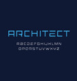 architect letters set geometric style alphabet vector image vector image