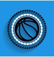 basketball ball icon flat icon vector image