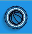basketball ball icon flat icon vector image