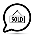 bubble with sold board icon vector image vector image