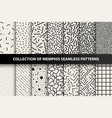 bundle of memphis seamless patterns fashion 80 vector image vector image