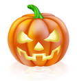 carved halloween pumpkin vector image