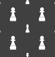 Chess Pawn sign Seamless pattern on a gray vector image vector image