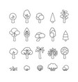 collection of tree icons template for logo vector image vector image