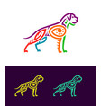 colored dog outline silhouette in ethnic style vector image vector image