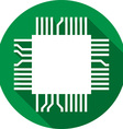 Computer Microchip Icon vector image vector image