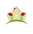 cottage village vector image vector image