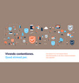 data protection shield access connection isometric vector image vector image