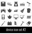 device icon set 2 gray icons on white background vector image