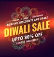 diwali sale offer banner design vector image vector image