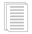 documents paper isolated icon vector image
