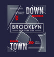 downtown brooklyn graphic typography vector image