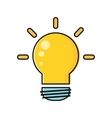 Electric Light Bulb In Flat Design