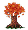 fantasy deciduous tree in the fall isolated on vector image