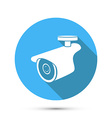 flat icon security camera vector image