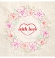 Floral wreath - Valentine design vector image vector image
