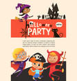 flyer or poster template with cute happy little vector image vector image