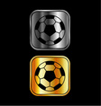 Footballs on black background vector image vector image