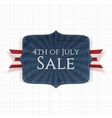 Fourth of July Sale realistic Label vector image vector image