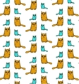 Funny cat pattern vector image vector image