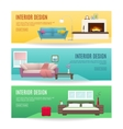 Furniture Horizontal Banners Set vector image vector image