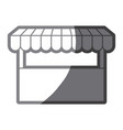 Grayscale silhouette of store icon