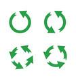 green reusable arrow icons eco recycle vector image